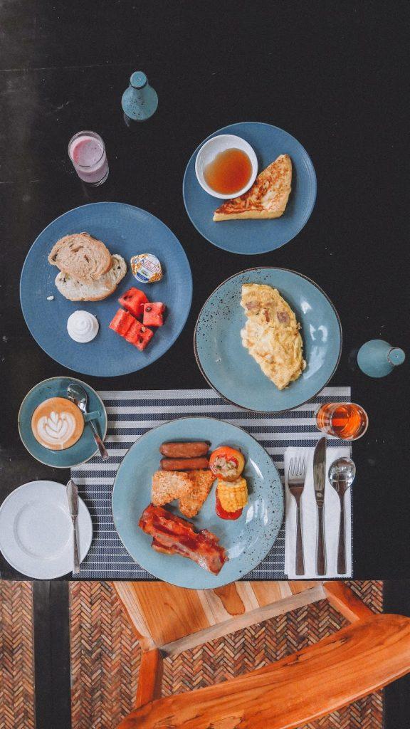 Sarapan enak di Bali : Foto sarapan tampak atas