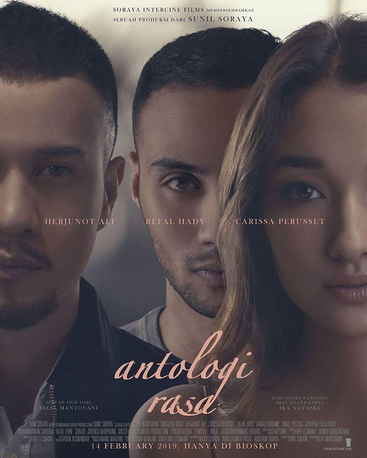 Poster Antologi Rasa yang menampilkan 3 pemeran utama