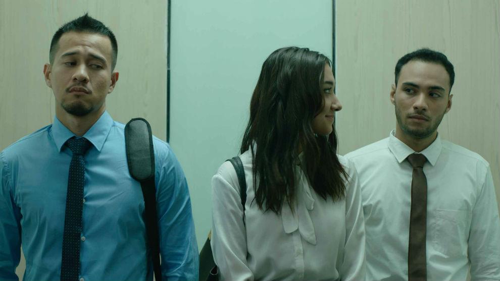 Salah satu adegan dalam film Antologi Rasa yang menampilkan 3 orang pemeran